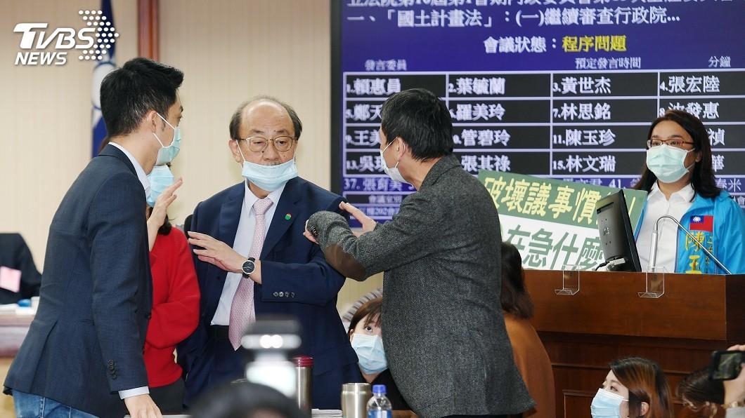 圖/中央社 內政委員會審國土計畫法 藍綠為排案權起爭議