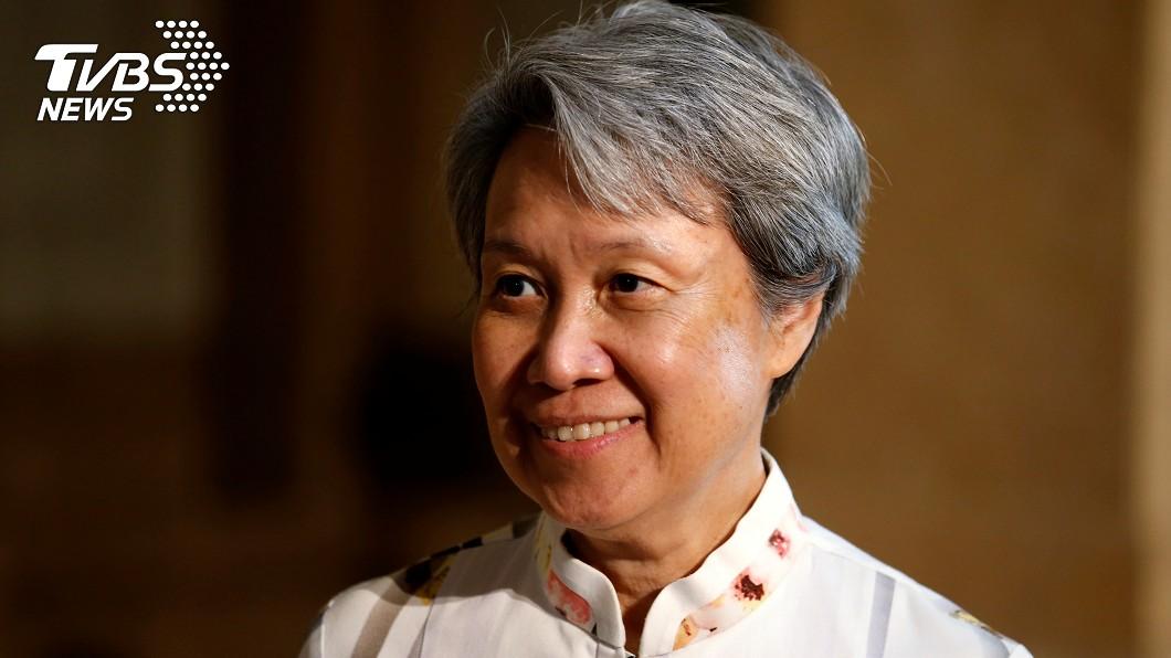 新加坡總理夫人何晶日前惹出口罩失言風波,引起熱議。(圖/達志影像路透社) 新加坡粉專嚴厲指控「台灣劫持口罩」 網罵:抵制台產品