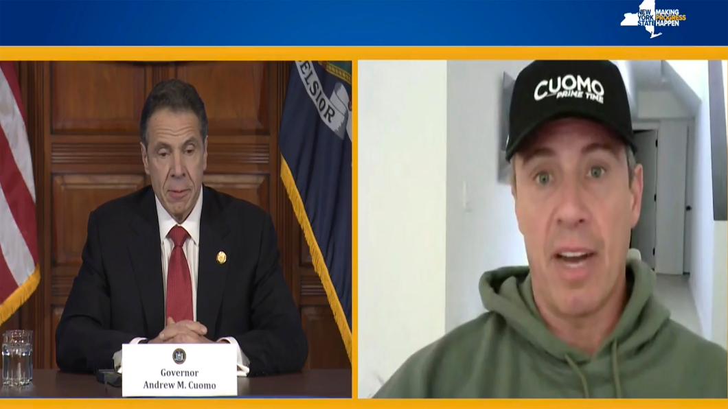 (左)紐約州州長 安德魯古莫,(右)CNN主播 克里斯古莫。圖/達志影像美聯社 染疫主播分享 喝雞湯.曬太陽.呼吸訓練抗病