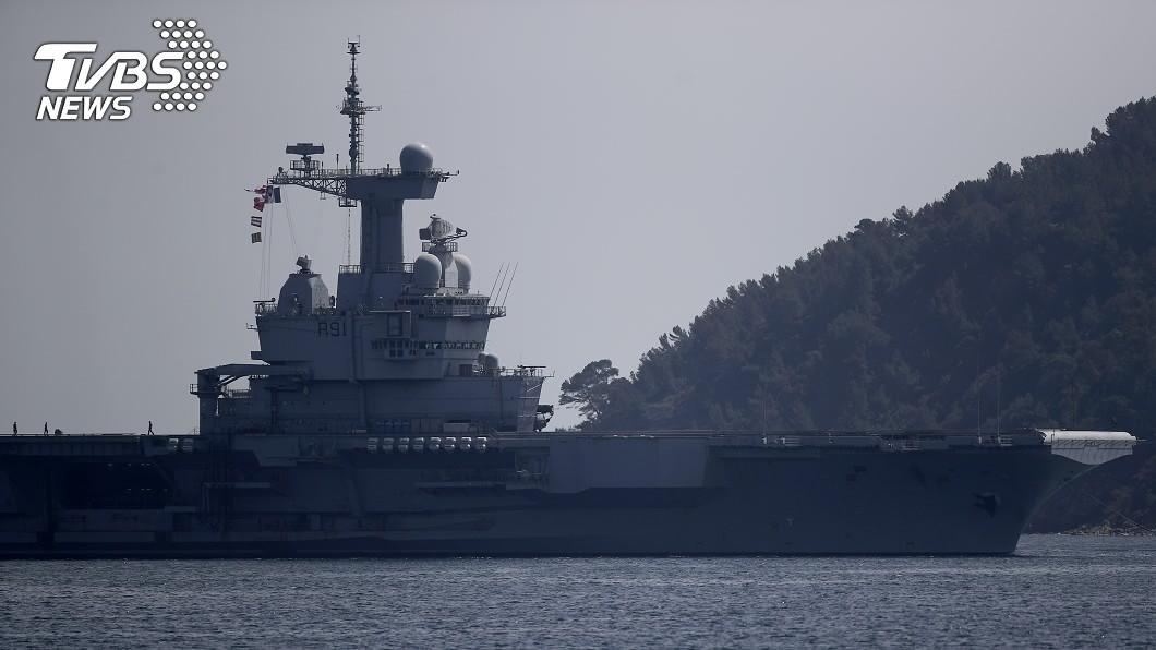 圖/達志影像美聯社 法國航母艦隊已668名官兵染疫 軍方調查管理疏失