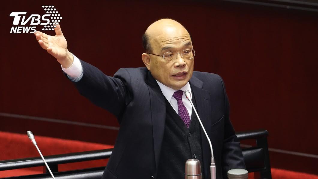 行政院長蘇貞昌。(圖/中央社資料照) 政府宣示打炒房 蘇揆:房屋不能當作一般商品炒作