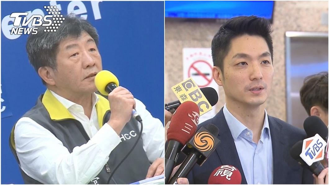 蔣萬安(右)在北市長選舉民調拉開與陳時中(左)差距。(圖/TVBS資料畫面) TVBS民調/北市長選舉 蔣萬安領先陳時中13%