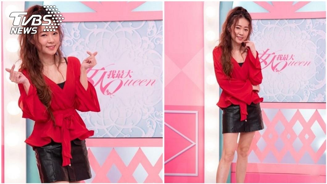 詹子晴上節目錄影分享自己被求婚成功的喜悅。(圖/TVBS) 男友求婚成功 丫頭誆母「我懷孕了」被念:不會幸福的