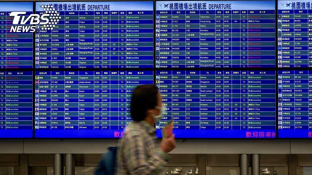 圖/中央社 疫情衝擊「旅運量刷新低」 桃機明起停用20個登機門