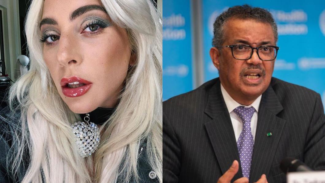 (圖/翻攝自Lady Gaga、Tedros Adhanom Ghebreyesus臉書) 女神卡卡公開力挺 大讚譚德塞 「真正的超級巨星」