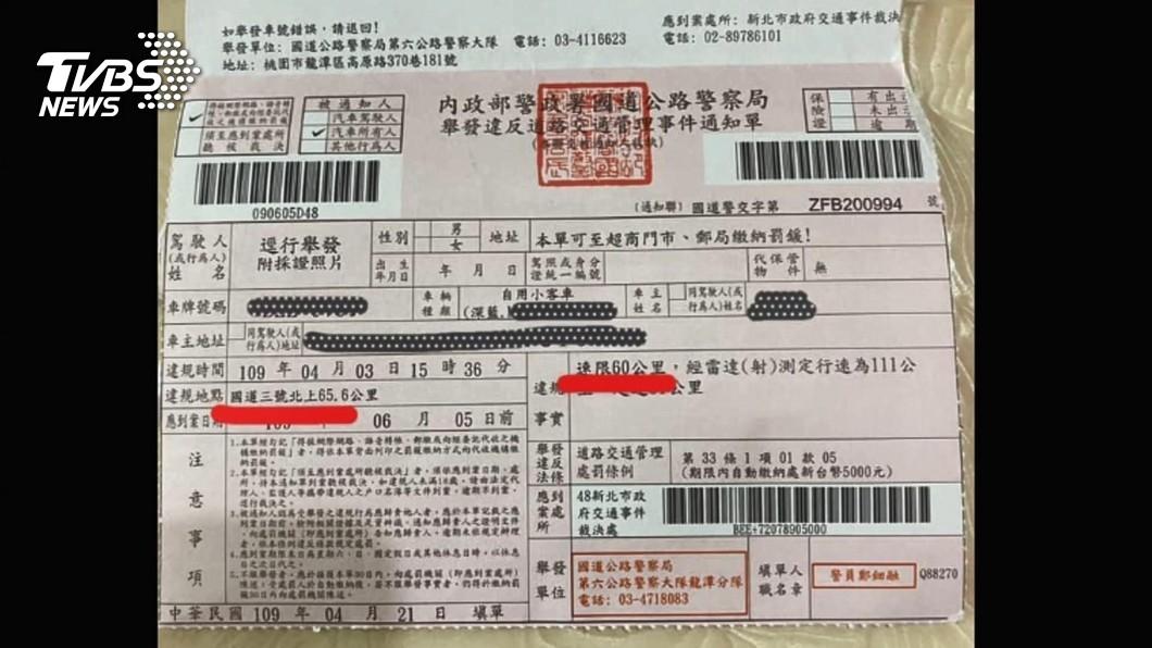 圖/TVBS 國道路肩限速60公里! 2個月開罰逾1500人
