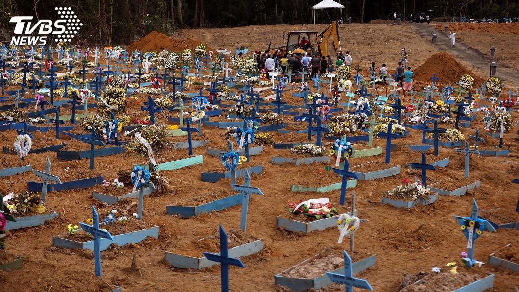 圖/達志影像路透社 一天內安葬140人 巴西瑪瑙斯葬儀體系幾崩潰