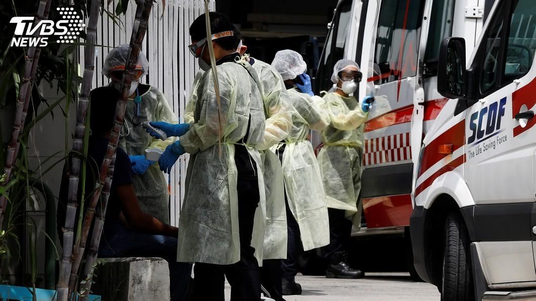 圖/達志影像路透社 新加坡每天檢測3千移工 新增病例連2天下降
