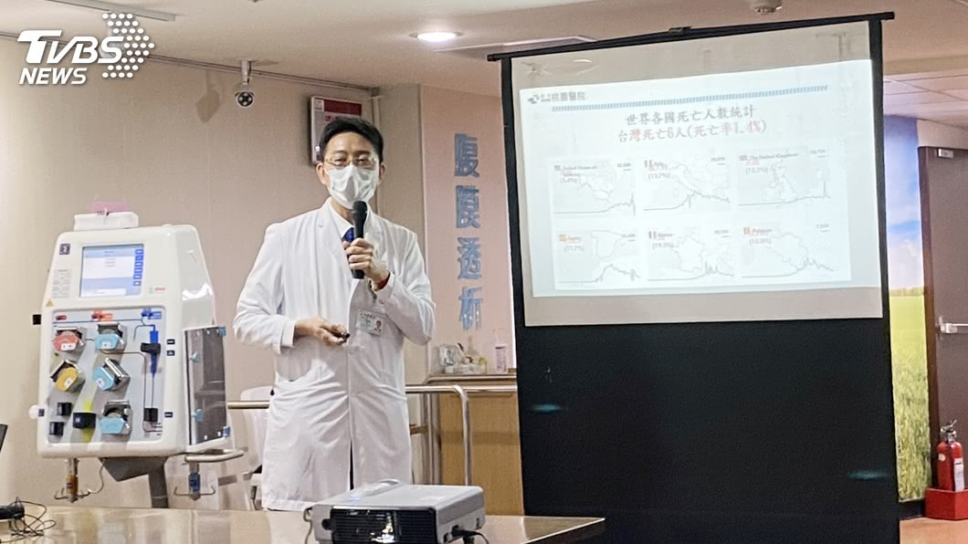 圖/中央社 台灣之光! 桃醫採血液淨化技術治癒肺炎重症者
