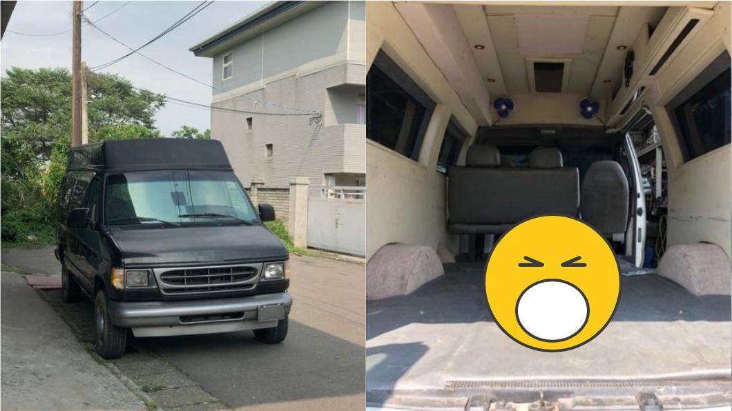 有網友買露營車時,疑似買到靈車。(圖/翻攝自PTT「八卦板」) 買露營車懷疑原是「靈車」? 網秒指1物:超毛