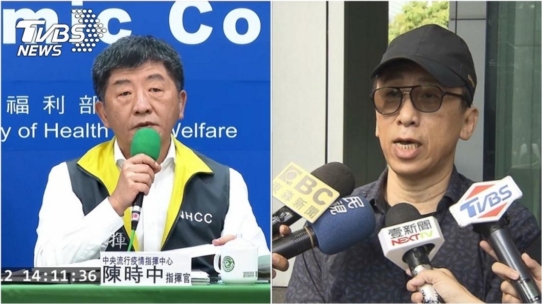作家苦苓(右)認為指揮官陳時中(左)宣布的一項規定不太負責任。(圖/TVBS資料畫面) 批陳時中宣布1規定「不負責任」 苦苓:不要再推拖