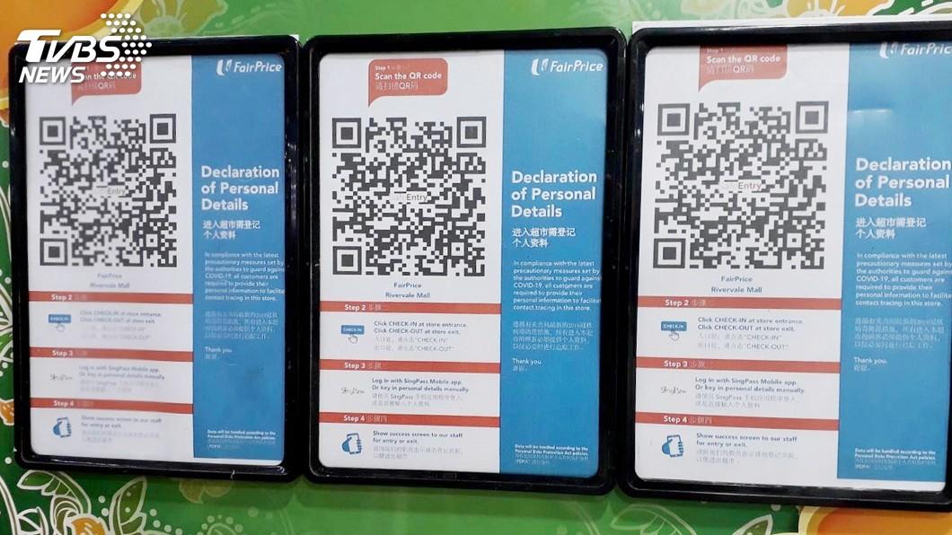 圖/中央社 疫情下的新加坡 科技防疫重啟經濟為關鍵下半場