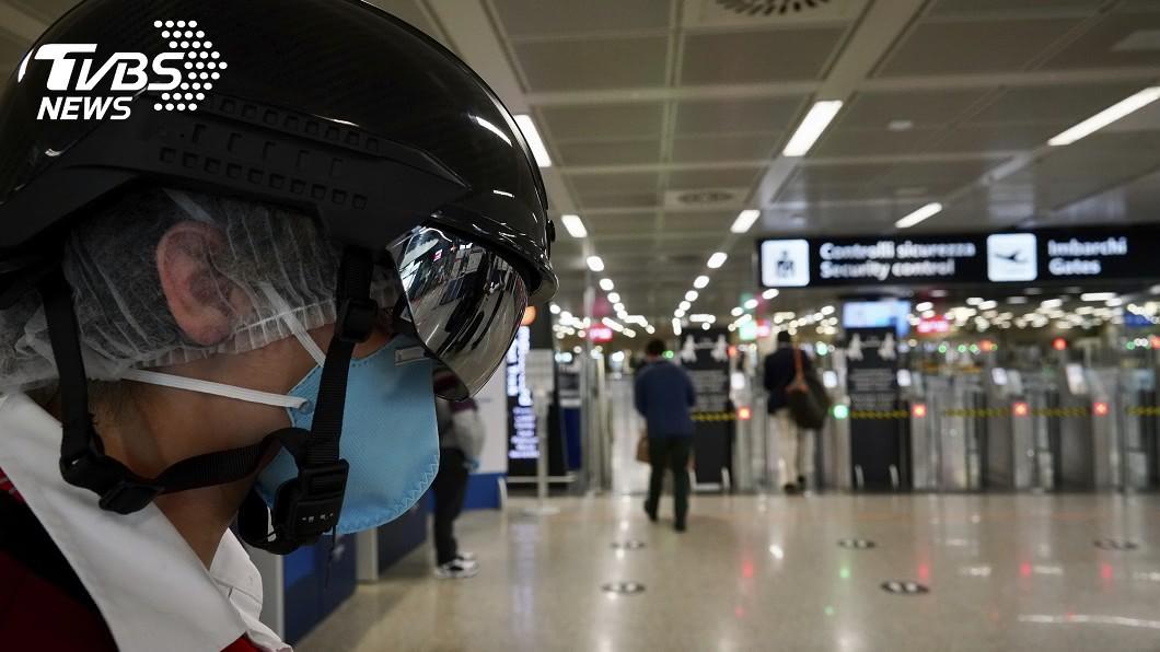 圖/達志影像美聯社 日本AI技術量體溫 義國推智慧防疫頭盔