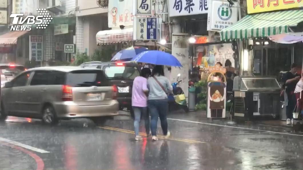 圖/TVBS 滯留鋒最強雨襲時間曝 週二起3天全台「劇烈」天氣