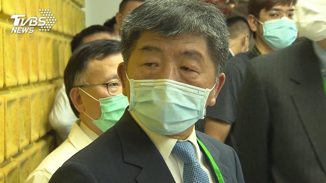 圖/TVBS資料照 陳時中走訪新竹 贈「專屬安全帽」慰勞第一線防疫人員