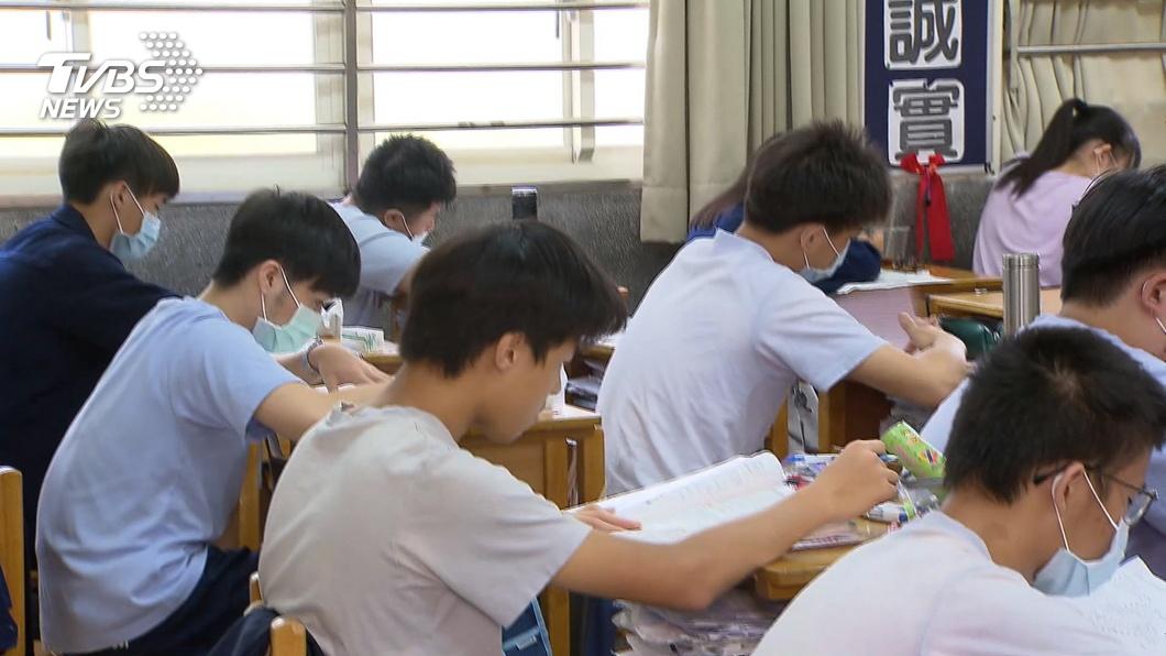 示意圖/TVBS 快訊/2會考生「未戴好口罩」 心測中心:不計分