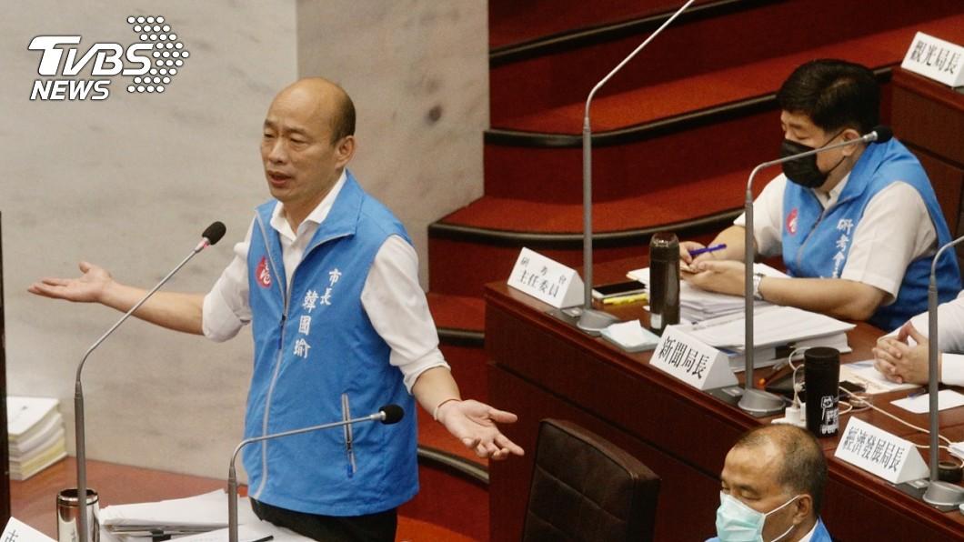 圖/中央社 韓國瑜:執政黨掌握媒體如上帝 害反對黨變魔鬼