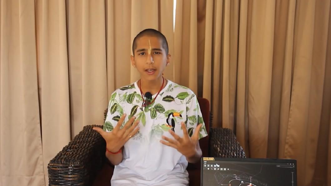 印度14歲天才少年阿南德。(圖/翻攝自YouTube) 準確預言新冠疫情!印度神童示警:年底將有「更大災難」