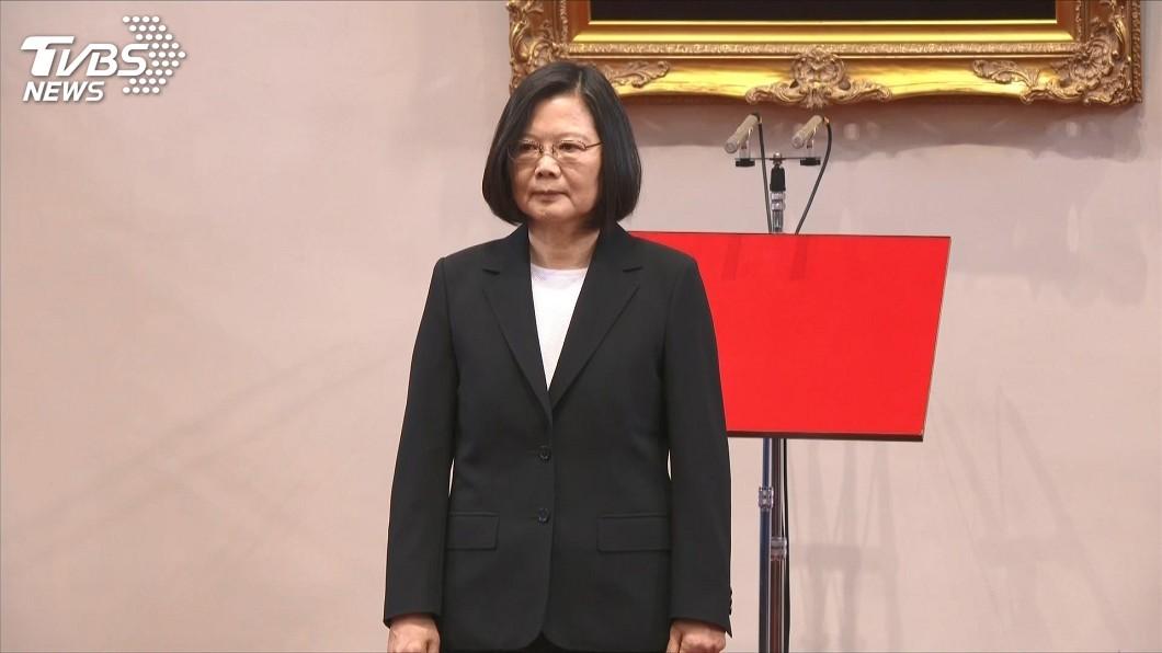 蔡英文今(19日)參加哥本哈根民主高峰會視訊會議。(圖/TVBS) 蔡英文參加哥本哈根民主會議 民主才是防疫資本