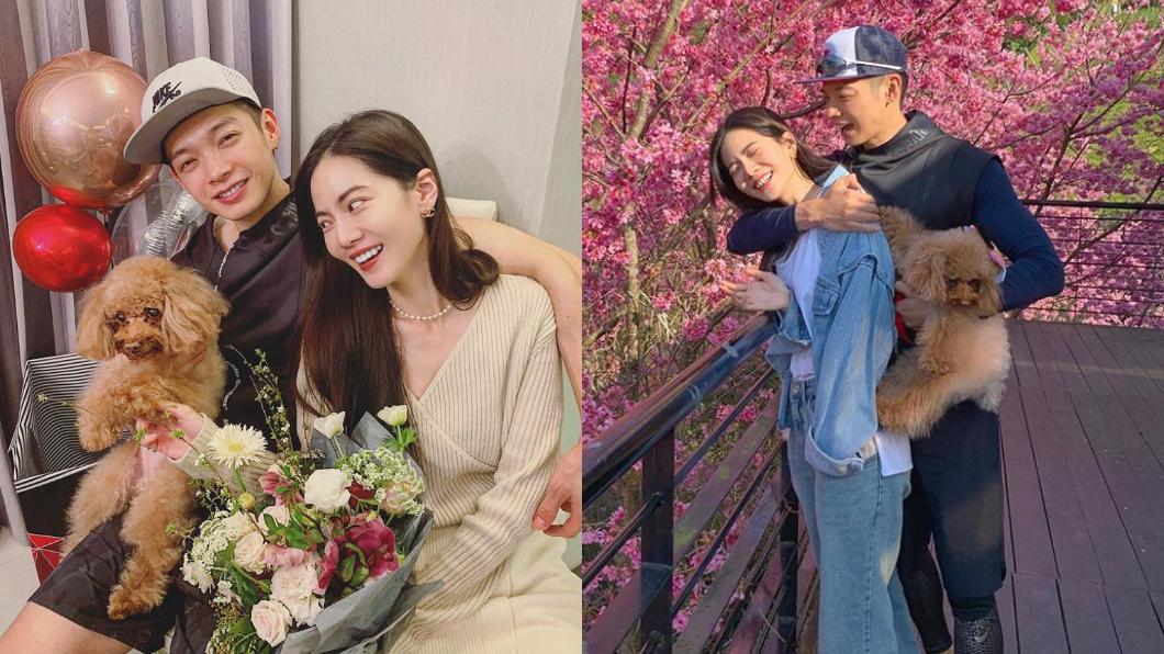 辰亦儒和曾之喬在小年夜宣布結婚的喜訊。(圖/翻攝自曾之喬Facebook) 曾之喬懷孕?辰亦儒親洩「3個月內不能說」…性別也露餡