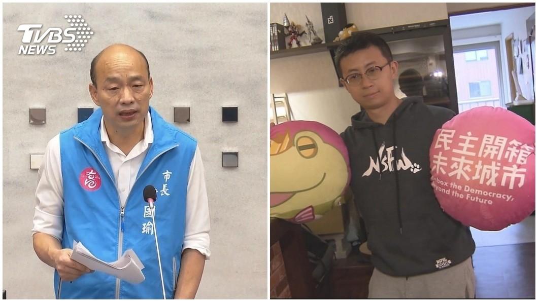 高雄市長韓國瑜的罷免案,台北市議員呱吉邱威傑認為結果並不樂觀。(TVBS資料圖合成) 預測罷韓結果不樂觀 呱吉:同意票約僅40萬票