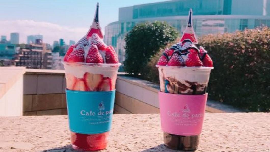 圖/翻攝自@harukakoizumi19推特 櫻花妹IG新寵! 瘋狂搶拍草莓堆高高水果杯