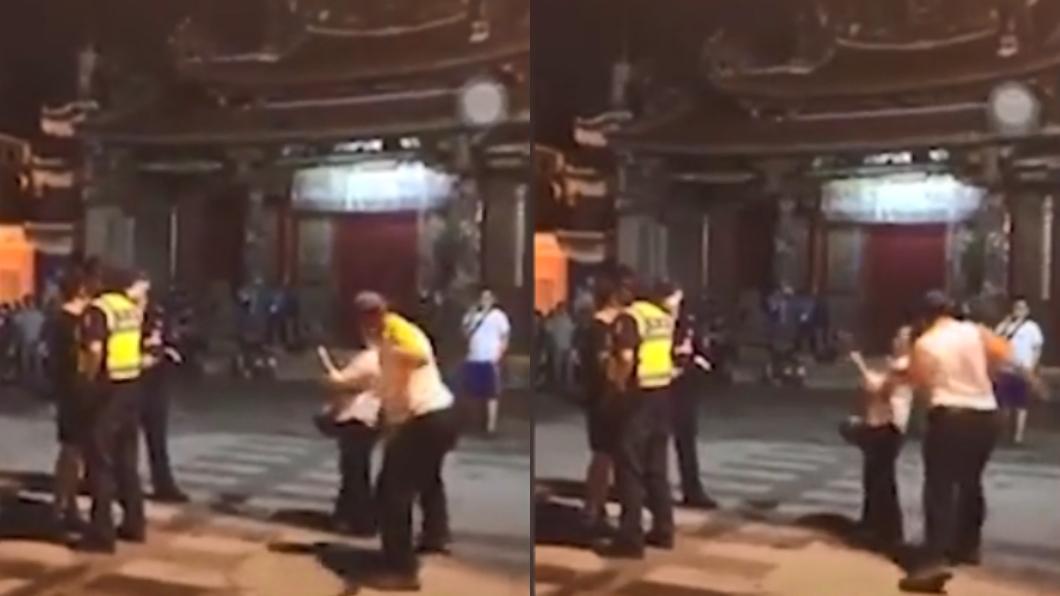圖/翻攝自臉書社團「920公社」 檢舉魔人「蘇大媽」遭圍堵嗆罵 壯男左勾拳重擊嚇壞她