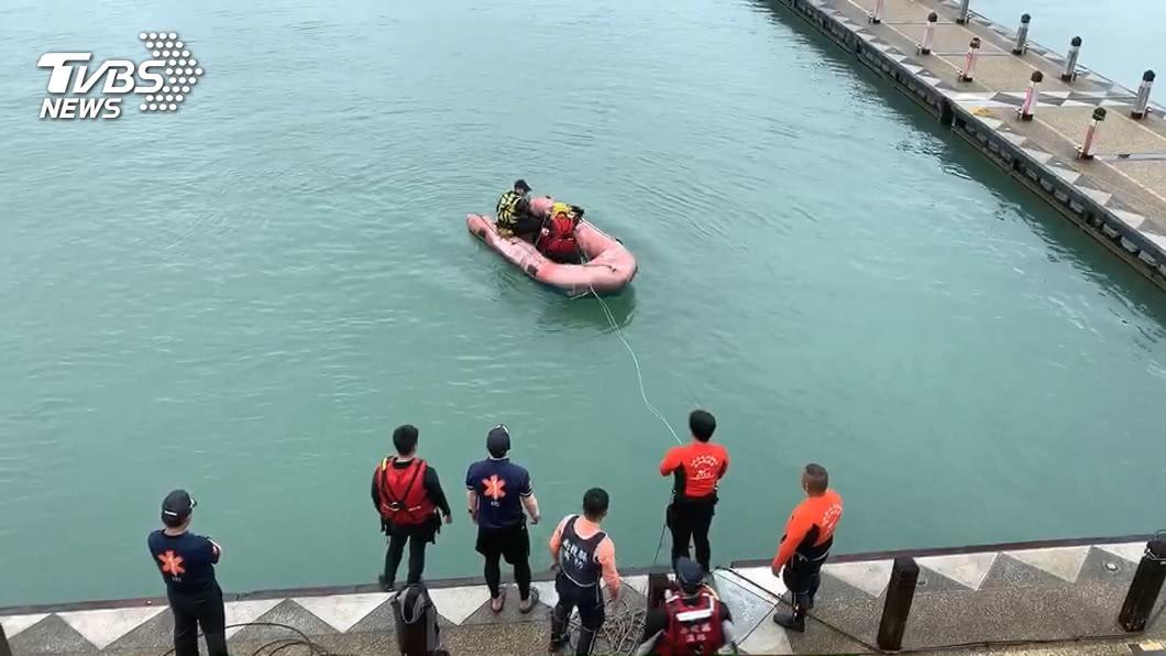 圖/TVBS 女遊日月潭慘叫落水 21小時尋獲全身僵硬亡母哭斷腸