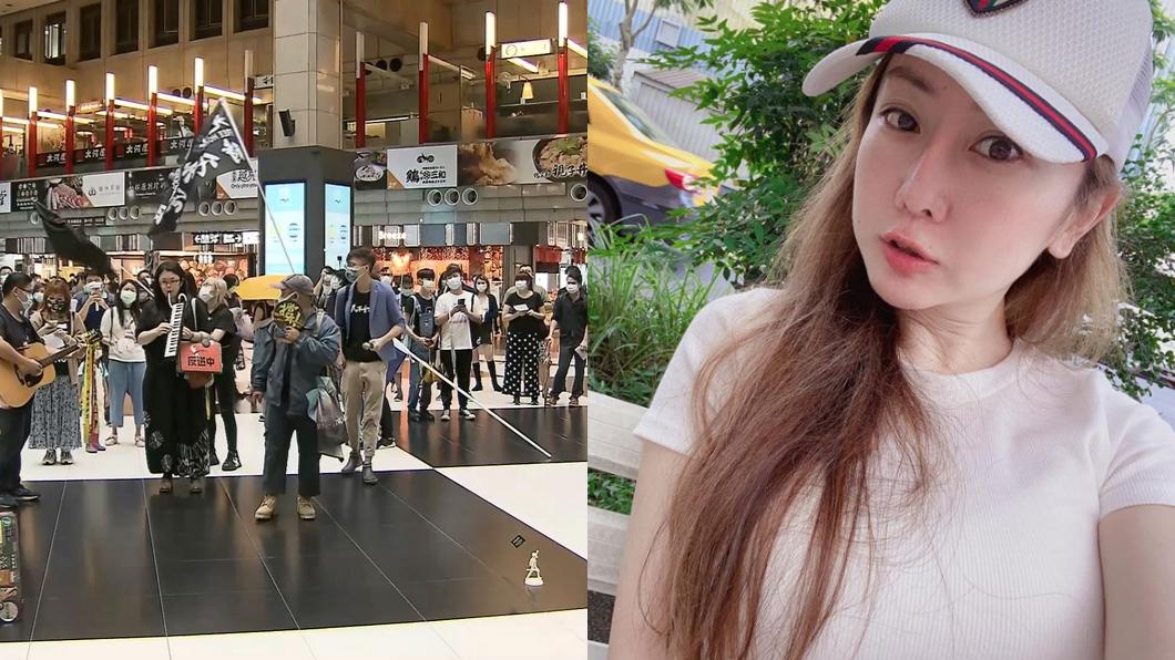 圖/翻攝自T妹臉書、TVBS資料照 5百人坐爆北車大廳!她傻眼「流浪漢才坐地」:吃飽太閒