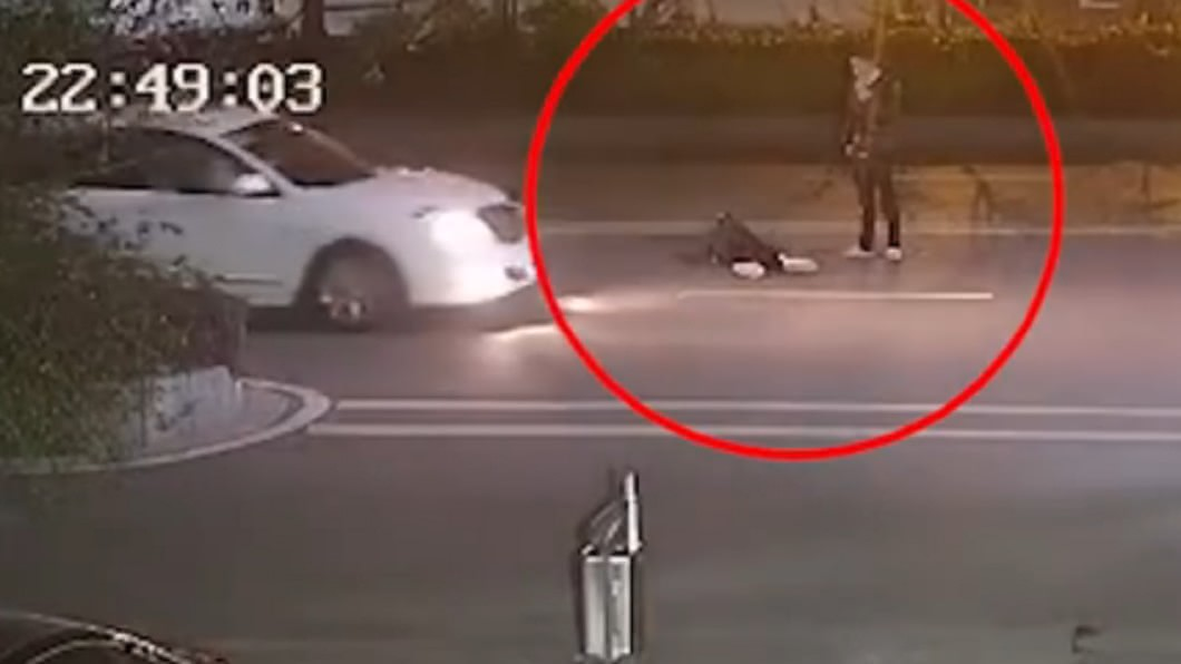 圖/星視頻 胎死腹中!孕婦仆街賭氣男友 轎車衝撞雙雙遭重輾