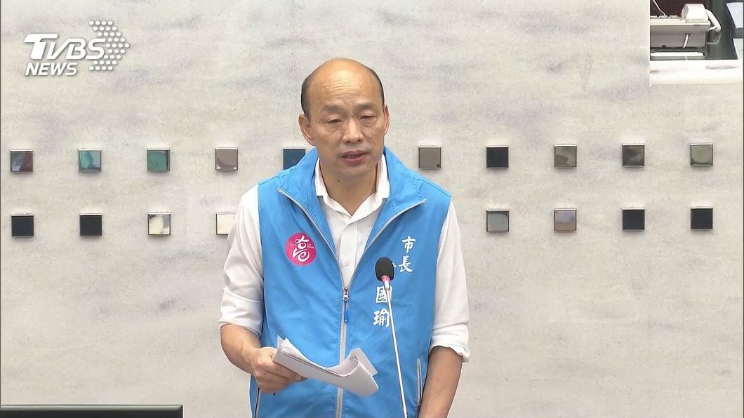 高雄市長韓國瑜。(圖/TVBS資料畫面) 國家機器動員挺罷韓 唐湘龍狂譙:要不要臉啊?