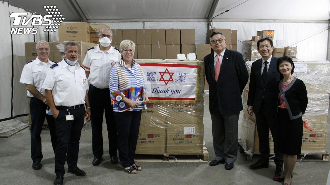 圖/駐以色列代表處提供 台10萬片口罩捐以色列 代表處交付紅色大衛之星