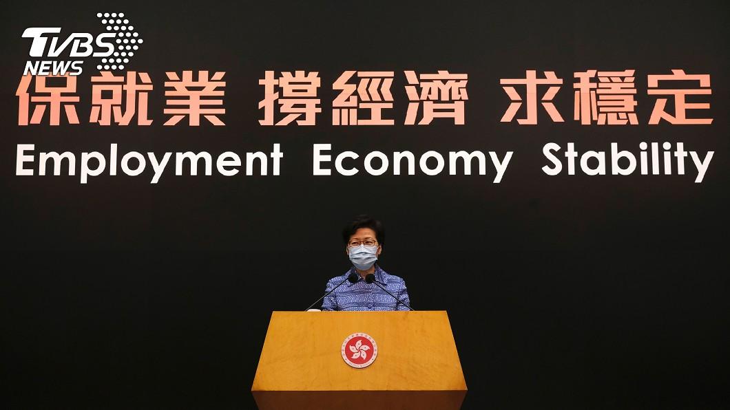 圖/達志影像路透社 再為港版國安法辯護 林鄭月娥:很多市民表達支持