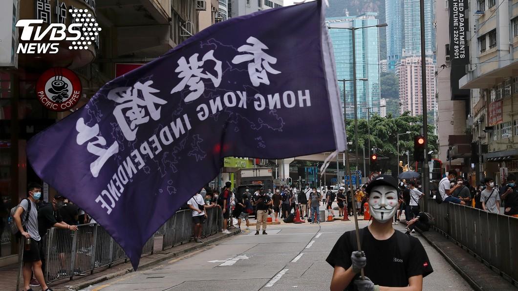 圖/達志影像路透社 中使館:不能藉口中英聯合聲明 干預香港事務