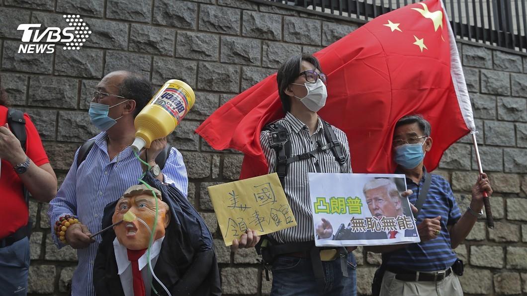 圖/達志影像美聯社 制裁香港是中國內政 人民日報:美國安問題雙重標準