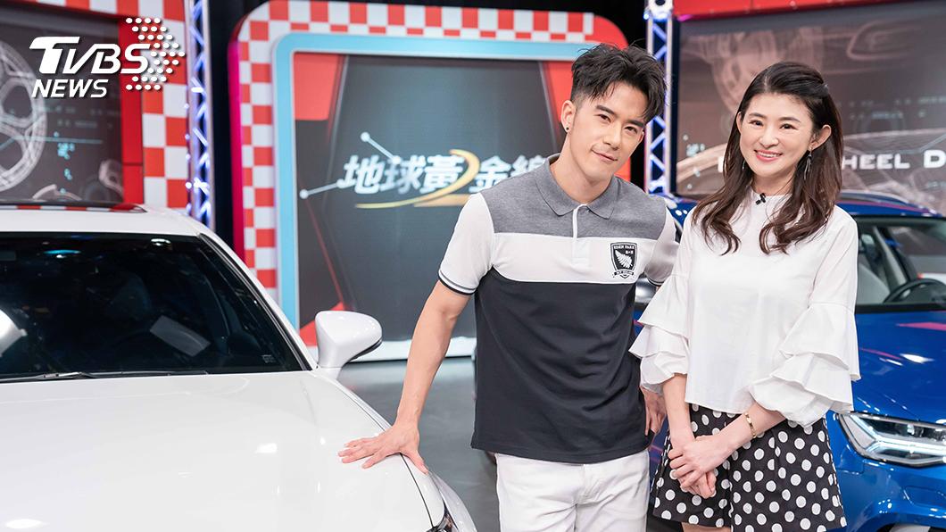 TVBS《地球黃金線》主持人蘇宗怡和來賓JR紀言愷。圖/TVBS 《地球黃金線》JR愛車成癡 開車卻首重另一半感受