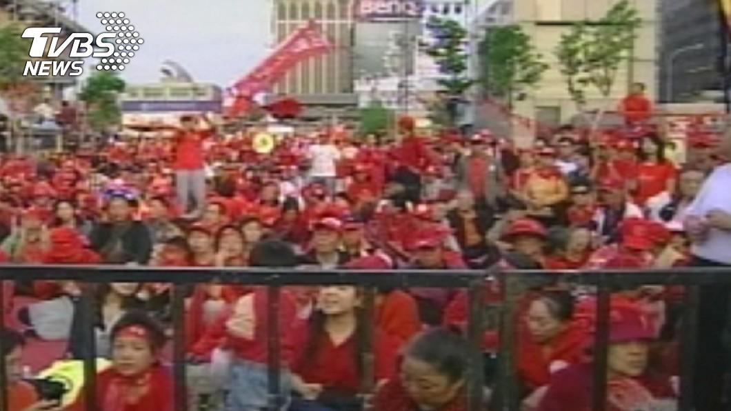 (圖/TVBS資料畫面) 台灣有暴徒橫行?鄉民解答:當年百萬人上街示威癱瘓台北