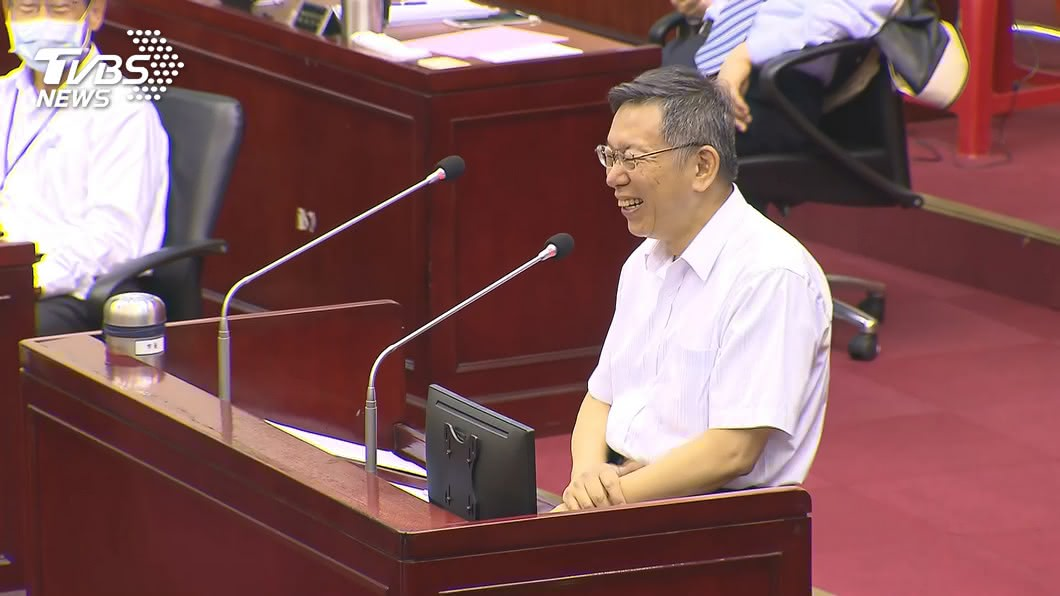 台北市長柯文哲。(圖/TVBS資料畫面) 蔡英文讚罷韓「民主往前」 柯酸:不要賭贏又贏話
