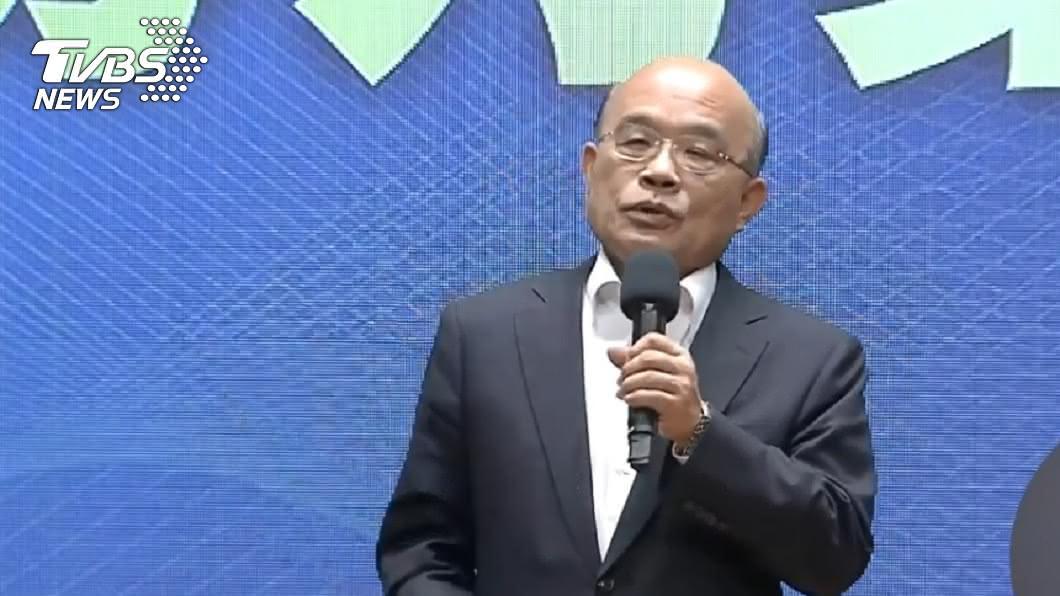 行政院長蘇貞昌。(圖/TVBS資料畫面) 紓困特別預算擬追加2000億 7/23送行政院會