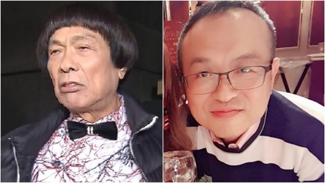 豬哥亮(左)長子謝順福(右)。(圖/TVBS資料畫面、翻攝自謝金晶臉書) 豬哥亮癌逝3年! 兒驚傳半年瘦8公斤「出血拉黑便」