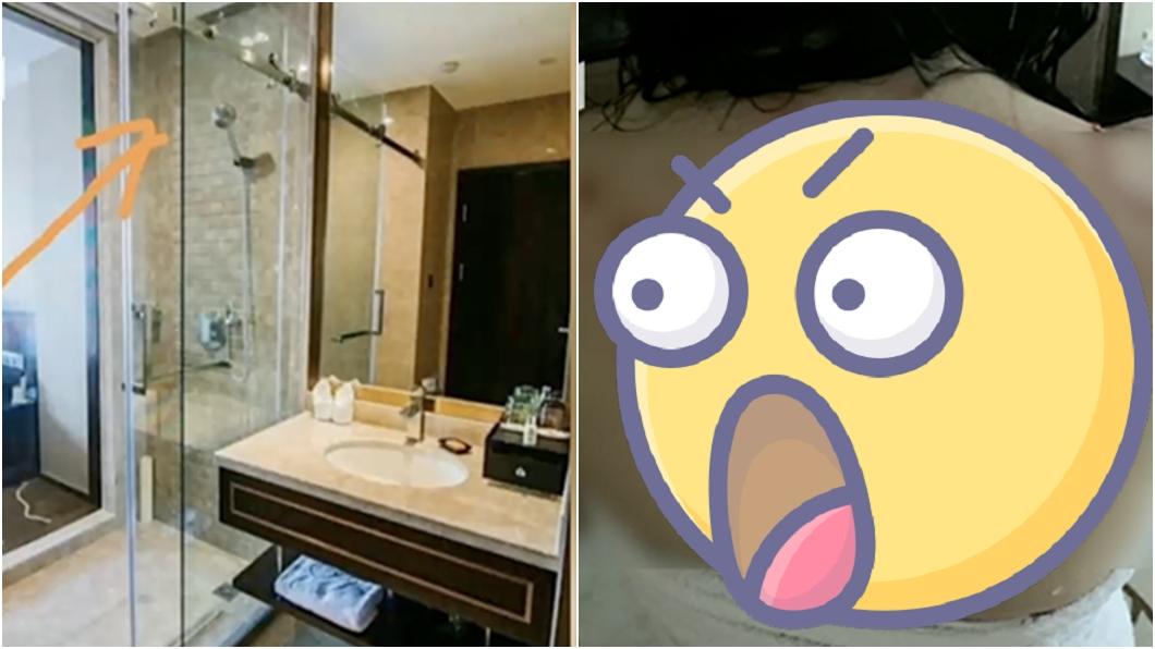 (圖/翻攝自看看新聞 ) 酒店洗完澡玻璃門突炸裂…她雪背佈滿血痕 看賠償金驚呆