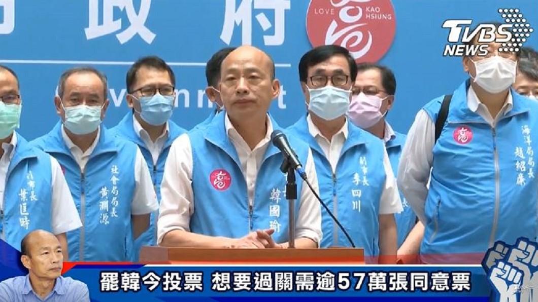 圖/TVBS 遭罷免 韓國瑜吐心聲:市府成績敵不過「罷韓國家隊」