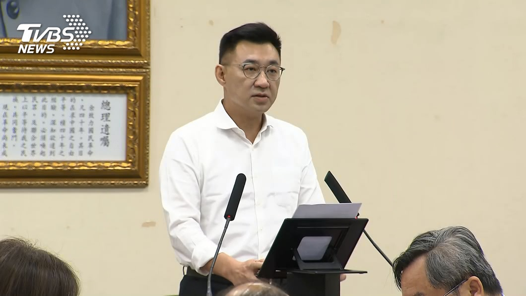 國民黨主席江啟臣。(圖/TVBS) 面對美陸變局 江啟臣:中華民國應避免淪為棄子