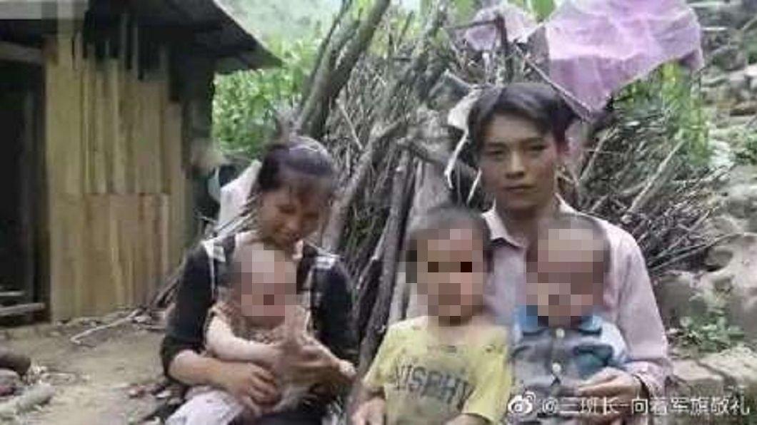 廣西1對夫妻一連生了9個孩子,而且肚子內還有第10個。(圖/翻攝自微博) 30歲夫妻產9胎肚內還1個 「為何還生」夫回答引眾怒