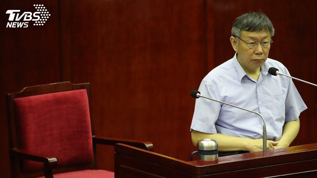台北市長柯文哲。(圖/中央社) 挺韓團體申請凱道 柯文哲:合情合法合理就會准