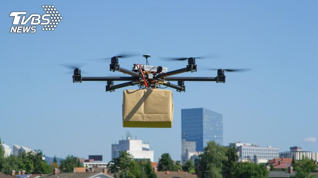 示意圖/TVBS 便當從天而降! 韓濟州島實驗無人機送餐