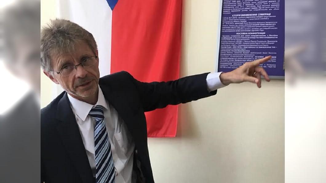 捷克參議院議長維特齊將率團訪問台灣。(圖/翻攝自Miloš Vystrčil臉書) 斯洛伐克關注捷克參議長訪台 近期檢討中國政策