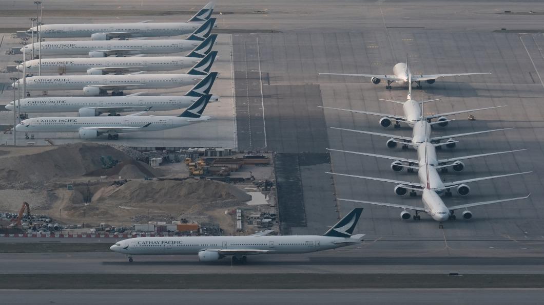 圖/達志影像路透 疫情衝擊 港府認股195億港幣救國泰航空