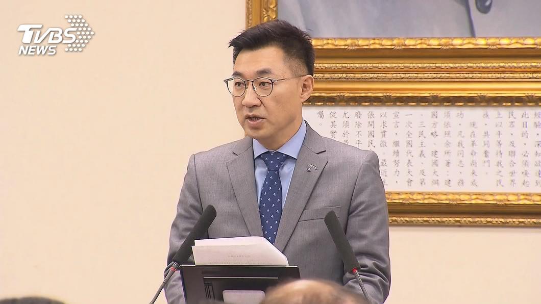 國民黨主席江啟臣。(圖/TVBS) 否認簡勤佑遭降職 江啟臣:是在文傳會多個位置