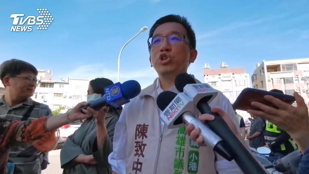 陳致中面臨罷免危機。(圖/TVBS資料畫面) 「鎮港除蟲隊」連署破萬!罷免陳致中進第二階段